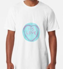 It's Love Blue and Pink Loveheart Long T-Shirt