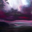 Red Landscape - oil on canvas by ChristineBetts