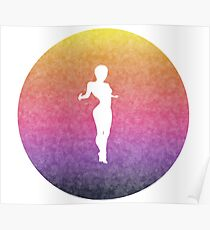 silhouette in a warm gradient Poster