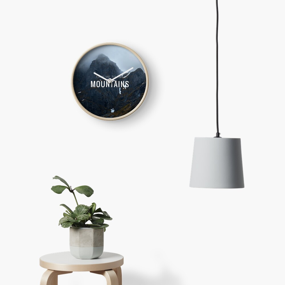 Horloge «Take me to the Mountains»