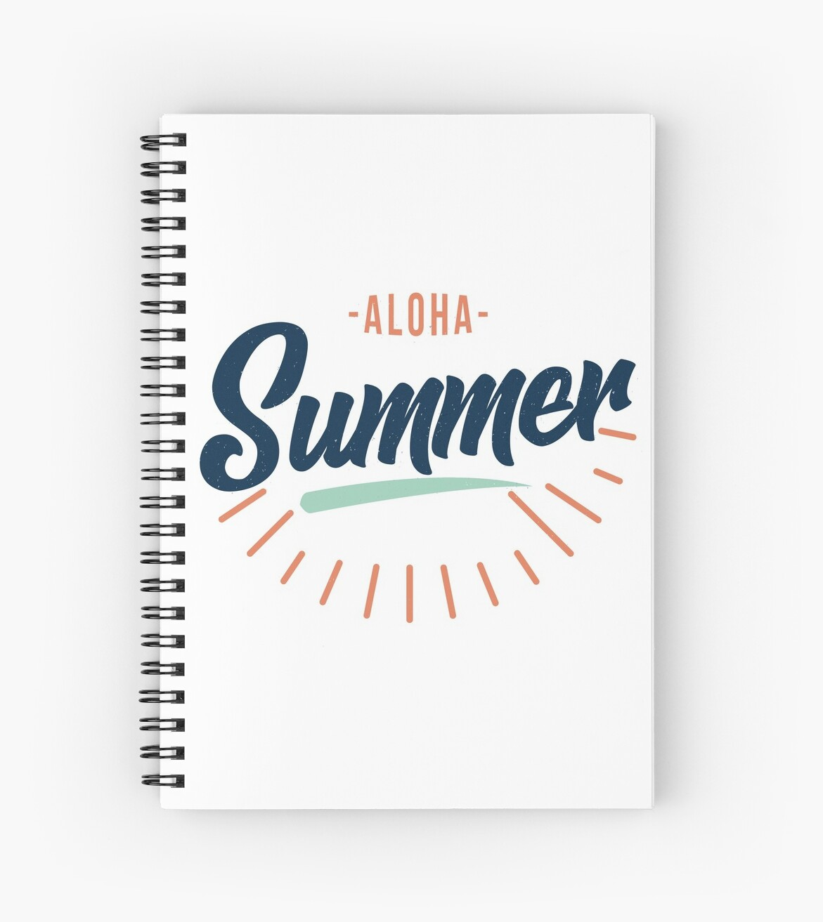 Aloha Summer Funny Vacation Hawaii Quotes White Mens Womens Tee Shirt T Shirt Spiral Notebook By Ayoubr