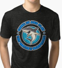 Funny Shark The Water's Beautiful Joke Tri-blend T-Shirt