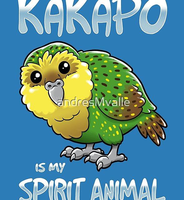 Kakapo Spirit Animal by andresMvalle
