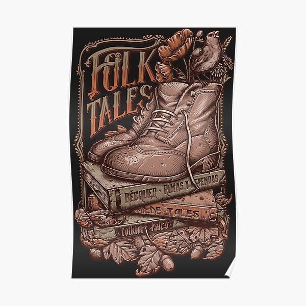 FOLK TALES - Vintage colors Poster