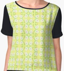 green fruit apples yellow seamless colorful repeat pattern Chiffon Top