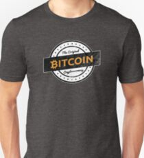 Bitcoin The Original Cryptocurrency Vintage Style Logo Unisex T-Shirt