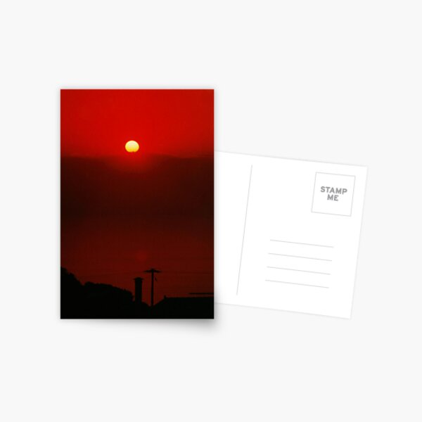 Under a Blood Red Sky Postcard
