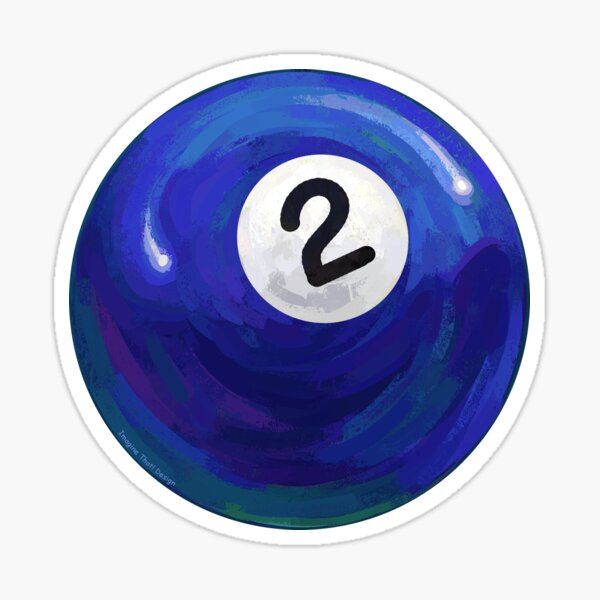 Billiards 2 Ball Sticker