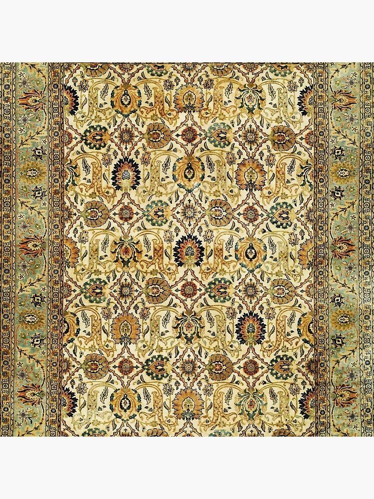 Antique Persian Tabriz Rug Print by bragova