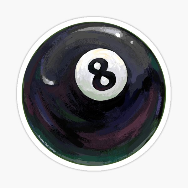Billiards 8 Ball Sticker