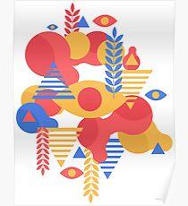 Colorful geometric design Poster