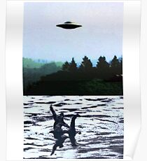 UFO Big Foot and Loch Ness Poster