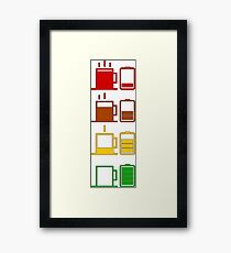 Charge coffee battery Framed Print