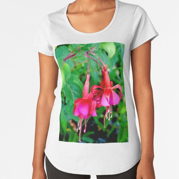 Red and Purple Fuchsia Premium Scoop T-Shirt