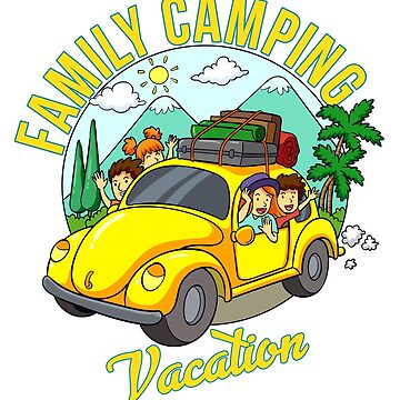 Family Camping Vacation Matching T-shirt Gifts by RedHotShop