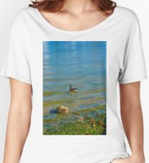 Goose on the Ripples Women's Relaxed Fit T-Shirt