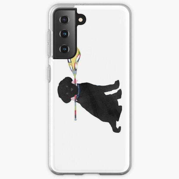 Black Lab Retriever Lacrosse Dog Samsung Galaxy Soft Case
