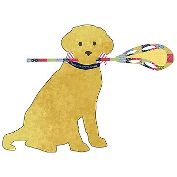 Preppy Yellow Lab Lacrosse Dog by emrdesigns