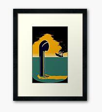 WW2 submarine vintage poster Framed Print
