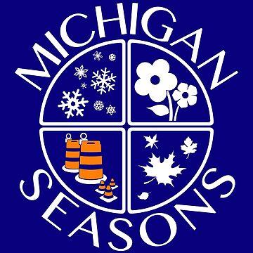 Michigan Seasons, 2-color version by Robzilla178