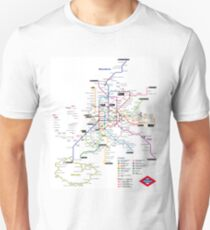 Madrid Metro Map - Spain - Update 2018 (Paco de Lucia - line 9) Unisex T-Shirt