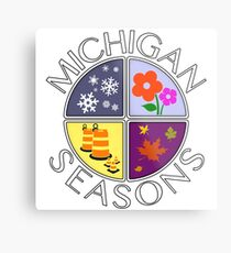Michigan Seasons, full-color version Metal Print