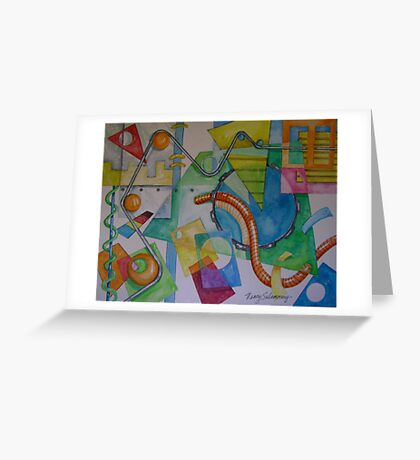 Abstract Movement 1 Greeting Card