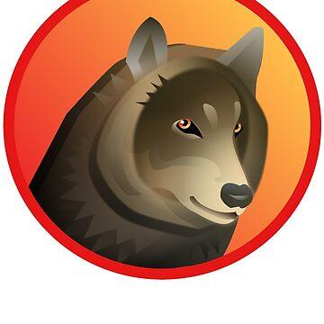 Wolf Graphic Design by Shirteesy