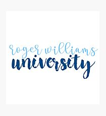 Roger Williams University Photographic Print
