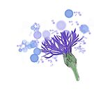 Cornflower with bubbles by Angelica-DK