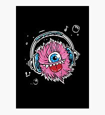Music Monster With Headphones Photographic Print