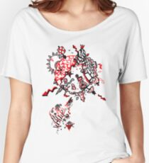 Red Carbon Sands Women's Relaxed Fit T-Shirt