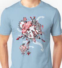 Red Carbon Sands Unisex T-Shirt