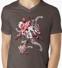 Red Carbon Sands Mens V-Neck T-Shirt