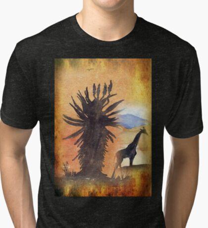 Lodge décor – African Bushveld scene Tri-blend T-Shirt