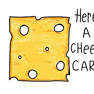 Cheesy Greeting Card, Funny Cheese Card by travelingpoppy