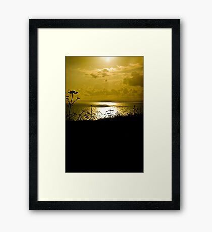Sunset at Kynance Framed Print