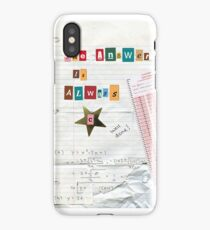 School Test Answer Collage iPhone Case