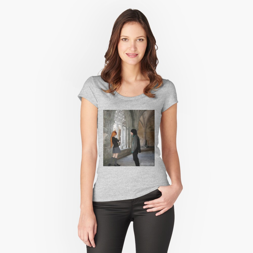 ~Sev and Lily~ Women's Fitted Scoop T-Shirt Front
