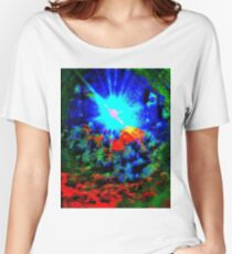 Psychedelic Spaceship Women's Relaxed Fit T-Shirt