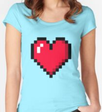 Retro Heart Women's Fitted Scoop T-Shirt