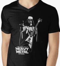 Funny Darth Vader Heavy Metal Men's V-Neck T-Shirt