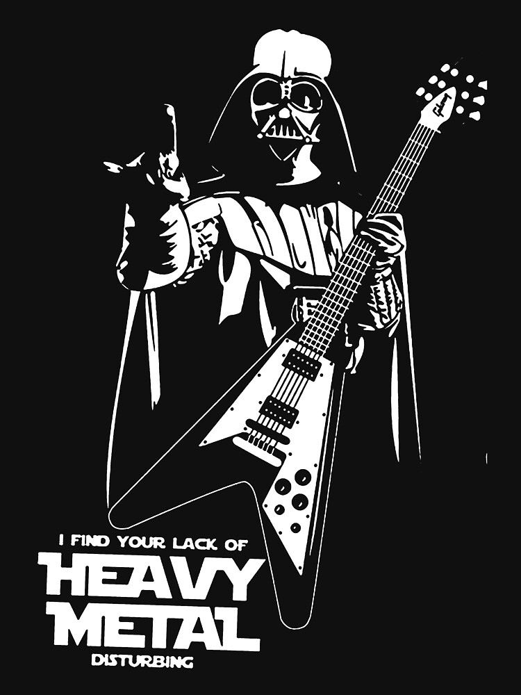 Funny Darth Vader Heavy Metal | Unisex T-Shirt