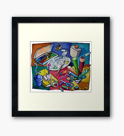 Art Table 2 Framed Print