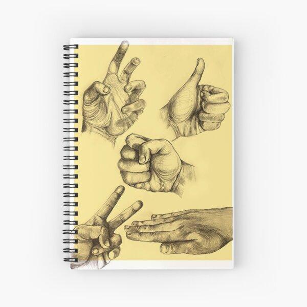 A Series of Hands  Spiral Notebook