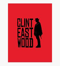 Clint Eastwood - Red Dead Redemption style Photographic Print