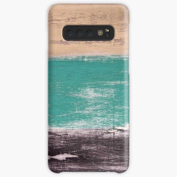 Reclaimed Wood (brown, teal, peach) Samsung Galaxy Snap Case