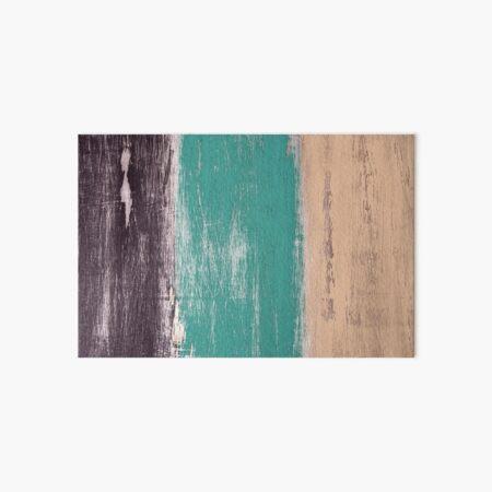 Reclaimed Wood (brown, teal, peach) Art Board Print