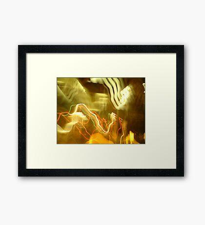 Bendy Lights Framed Print