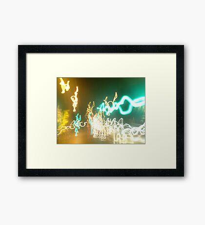 Traffic Trails 4 Framed Print